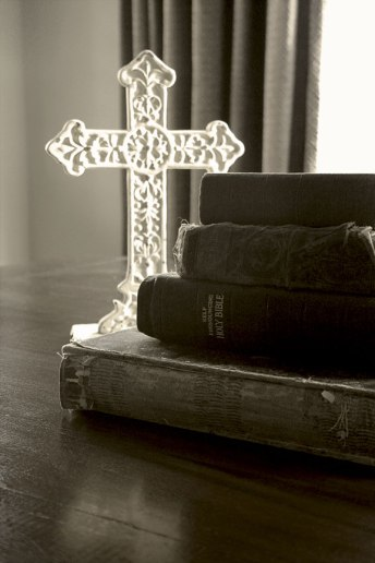 Bibles with cross